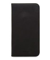 Black iPhone X leather phone case