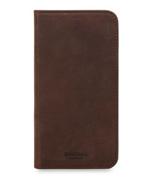 Brown iPhone X leather phone case