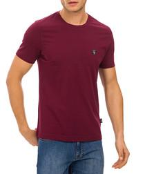 Bordeaux cotton logo T-shirt