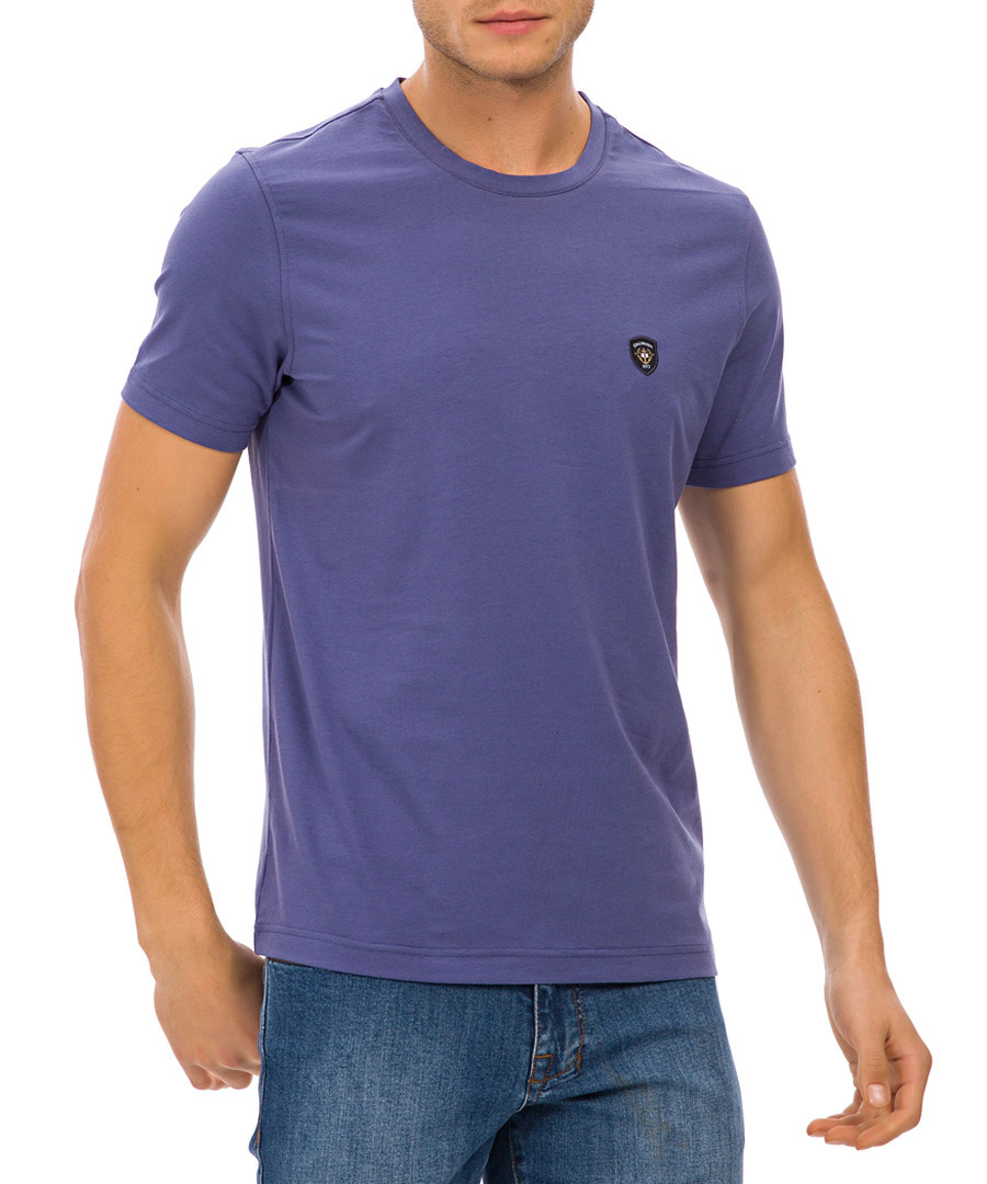Indigo cotton logo T-shirt Sale - galvanni