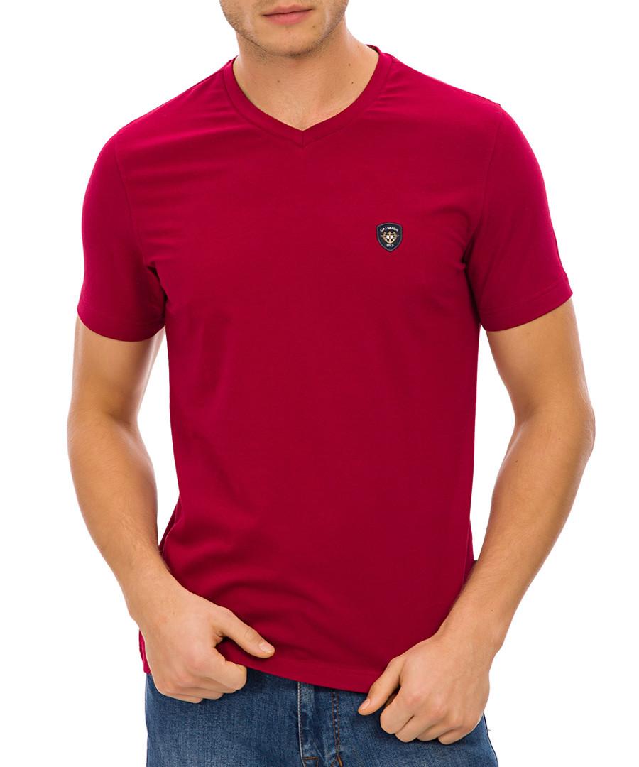 Red cotton logo T-shirt Sale - galvanni