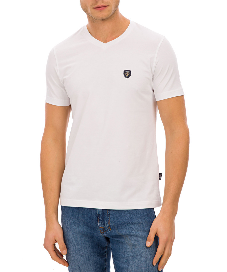 White cotton logo T-shirt Sale - galvanni