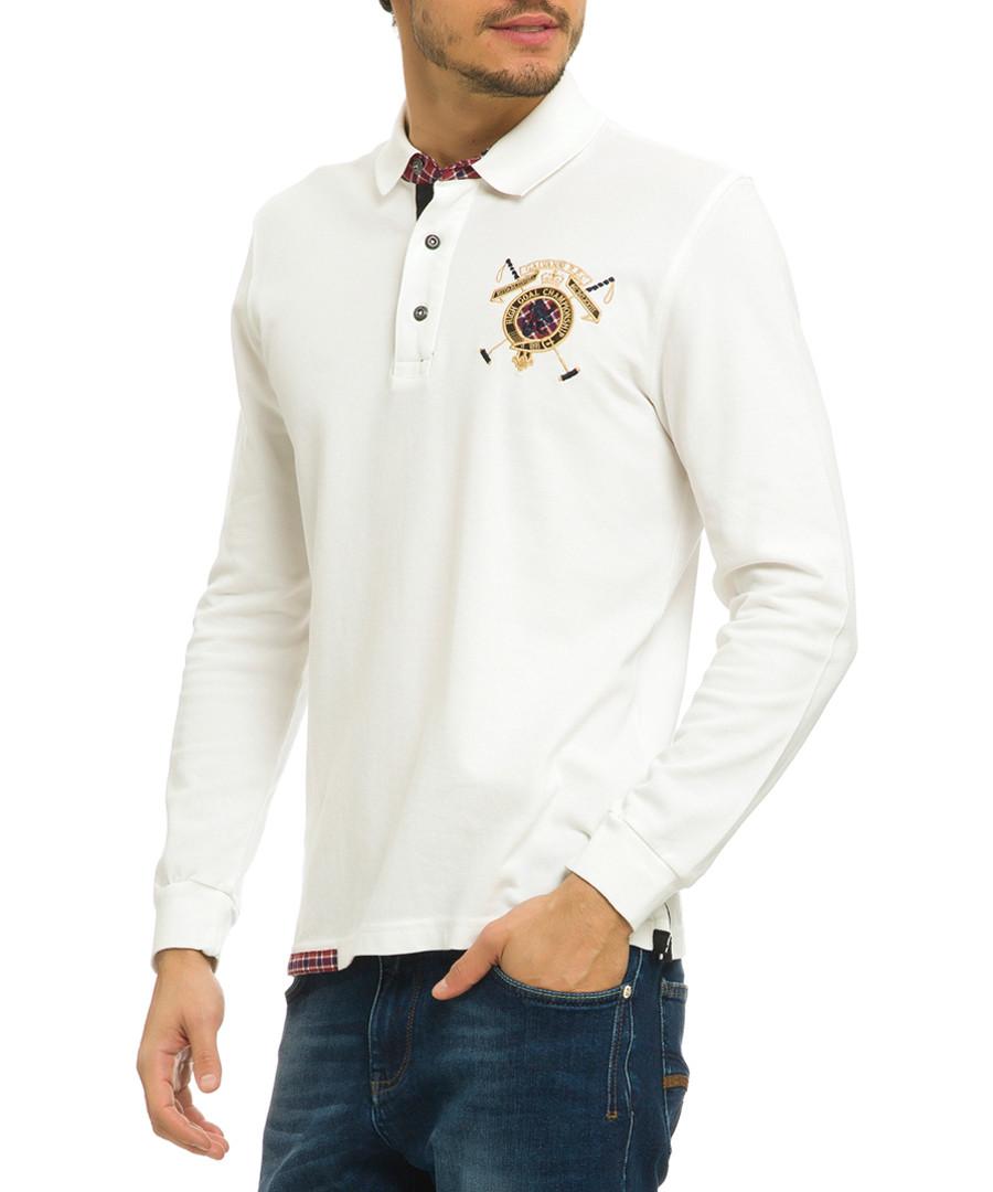 Off-white pure cotton polo shirt Sale - galvanni