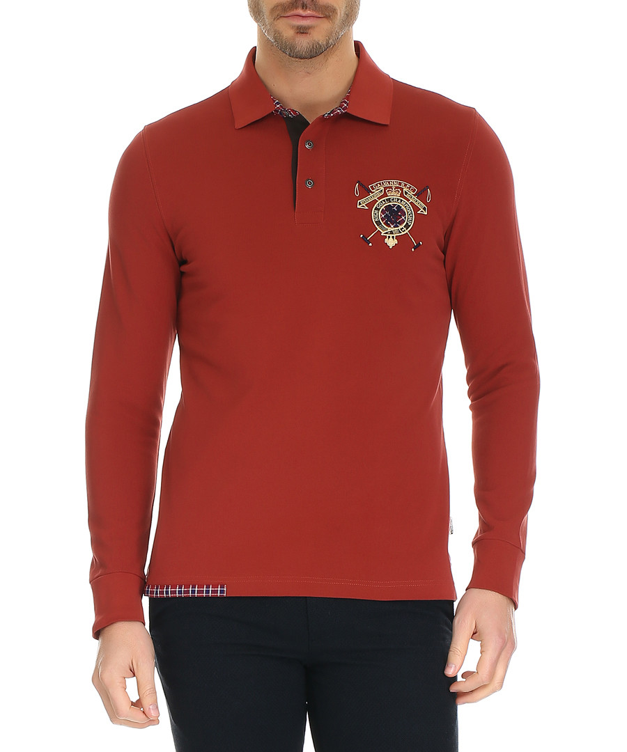 Rosewood pure cotton polo shirt Sale - galvanni