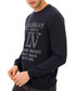 Navy slogan jumper Sale - galvanni Sale