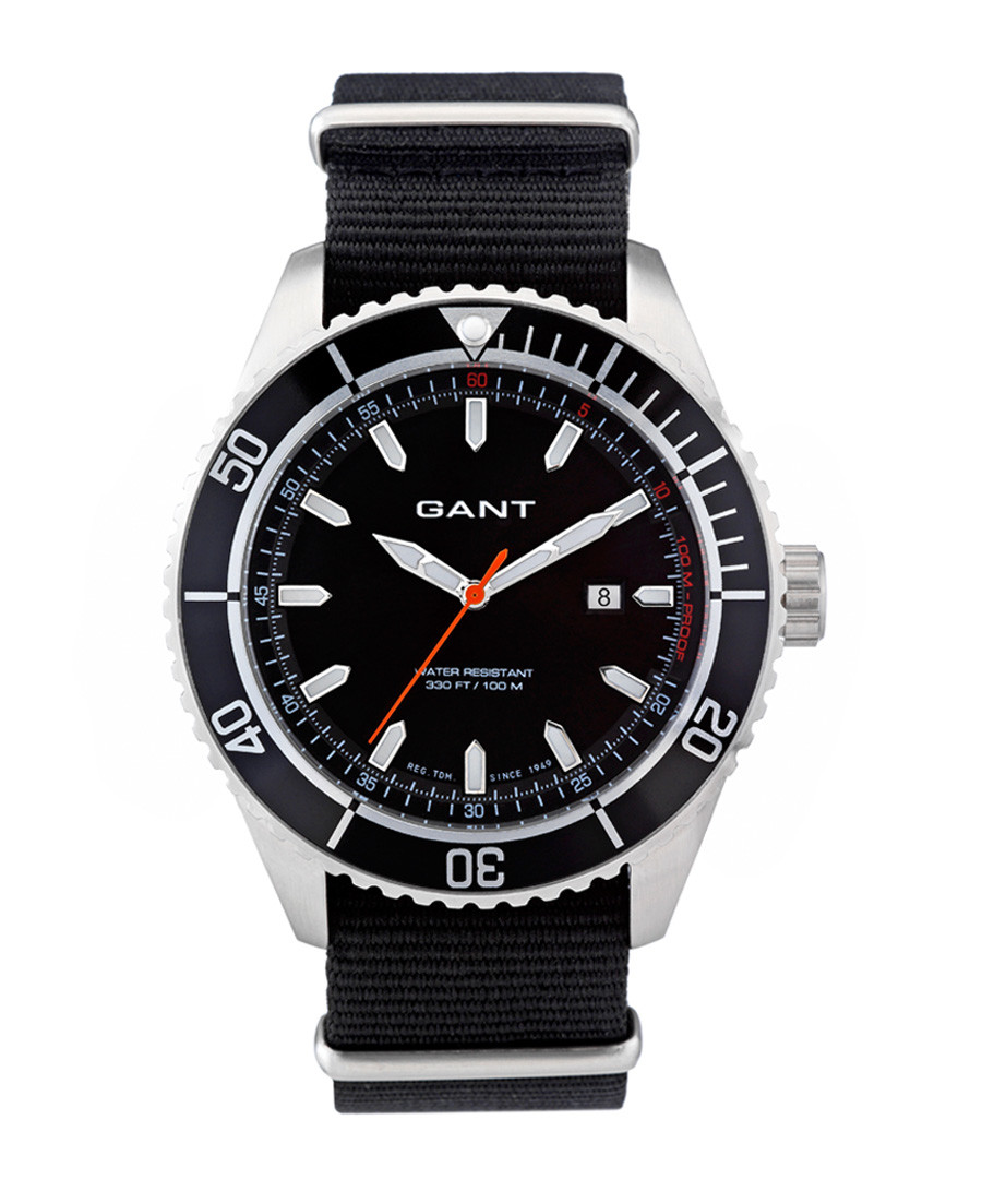 Stainless steel & black nylon watch Sale - gant