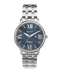 Stainless steel numeral link watch