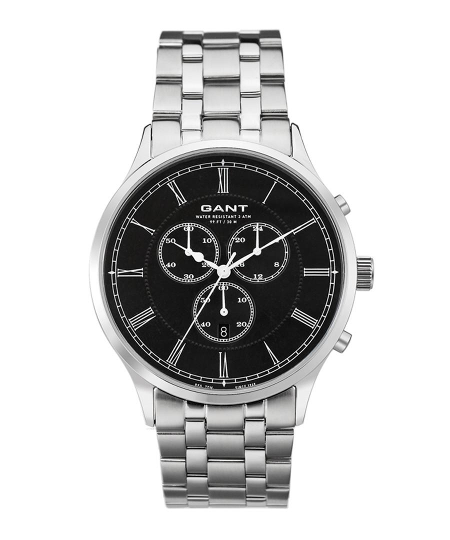 Steel & black chrono link watch Sale - Gant
