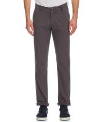Dim grey cotton blend trousers