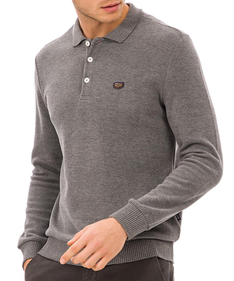 Grey logo polo shirt Sale - galvanni