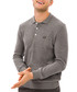 Grey logo polo shirt Sale - galvanni Sale