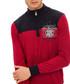 Dark red wool-blend half-zip jumper Sale - galvanni Sale