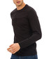 Black cotton blend long sleeve top Sale - galvanni Sale