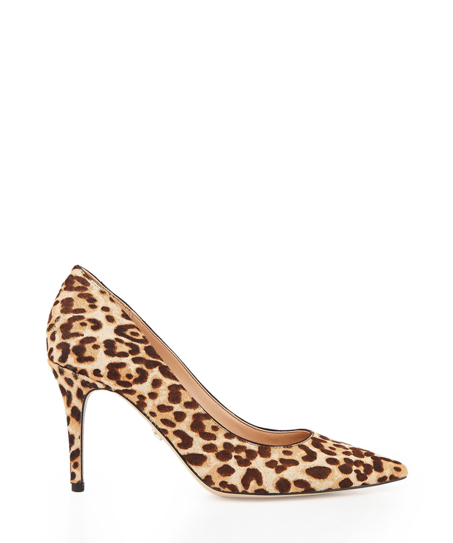 Margie leopard brahma hair court heels Sale - Sam Edelman