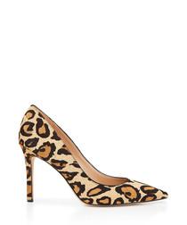 Hazel leopard print brahma hair heels