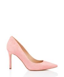 Hazel pink lemonade suede court heels