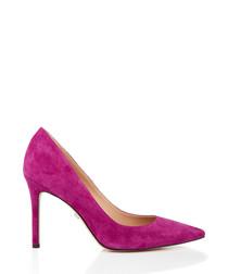 Hazel plum suede court heels