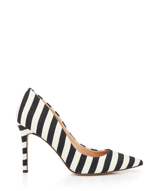 72d51830260e Hazel black   ivory stripe court heels Sale - Sam Edelman Sale