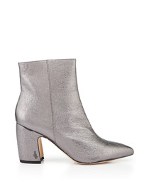 Hilty dark pewter heeled ankle boots