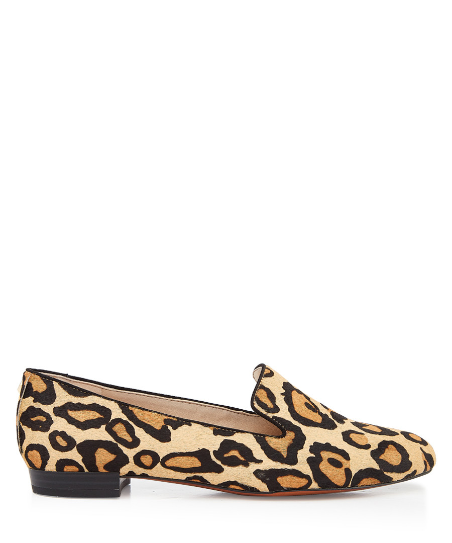 Jordy leopard print brahma hair loafers Sale - Sam Edelman