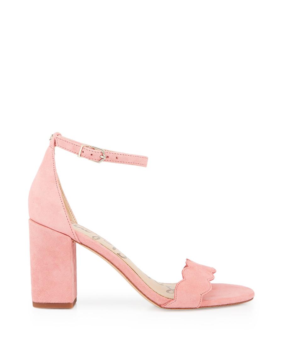 Odila pink lemonade suede strappy heels Sale - Sam Edelman