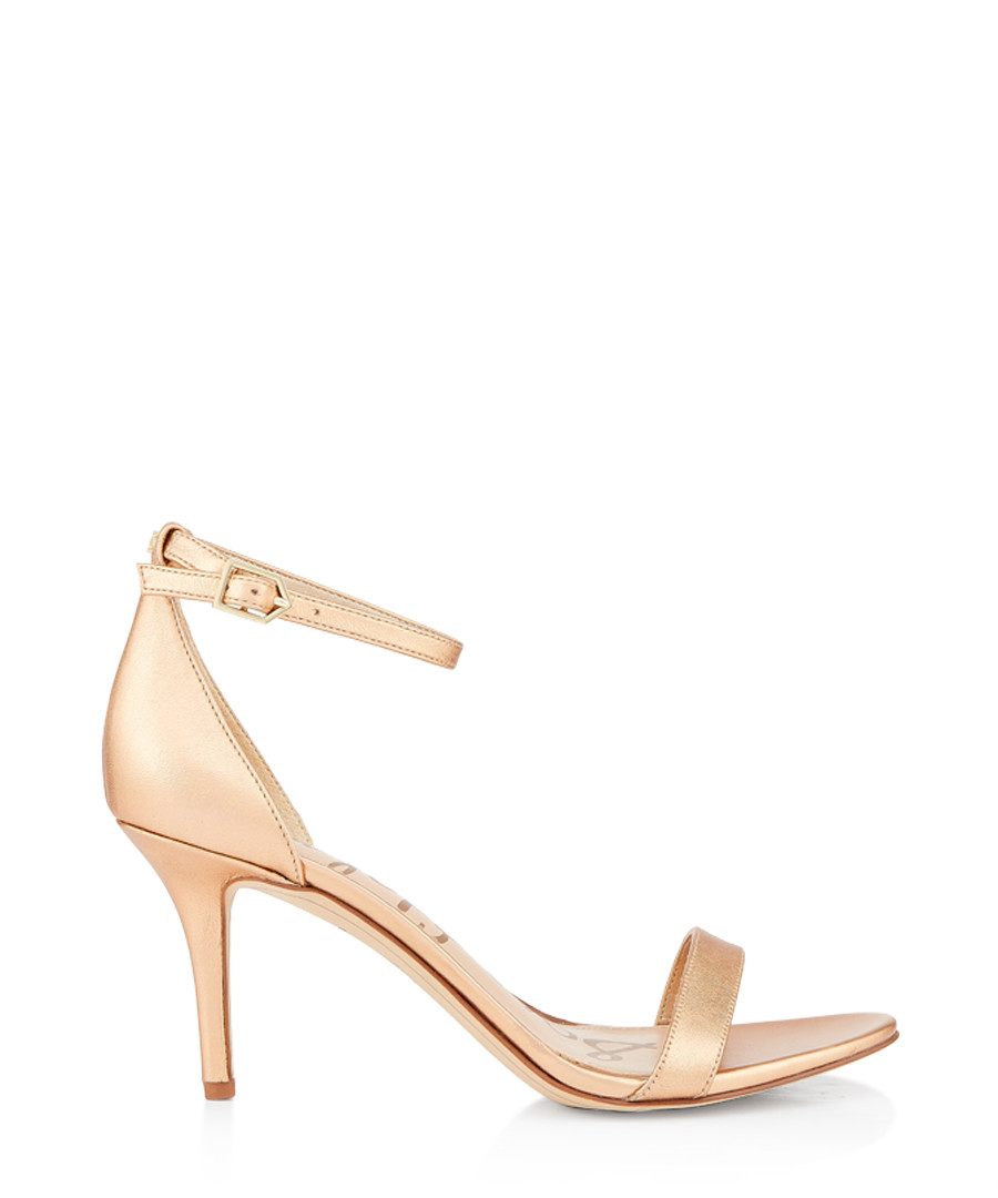 Patti metallic leather strappy heels Sale - Sam Edelman