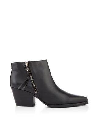 c745919edbd1 Black leather side-zip ankle boots Sale - Sam Edelman Sale