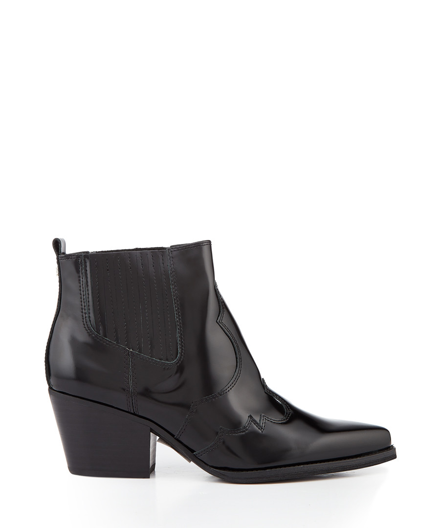 Winona black leather pull-on ankle boots Sale - Sam Edelman