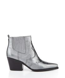 Winona anthracite metallic ankle boots