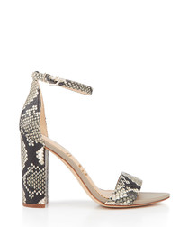 Yaro snake print leather strappy heels