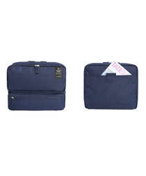 Navy carry-on travel bag