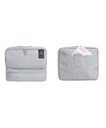 Light grey carry-on travel bag
