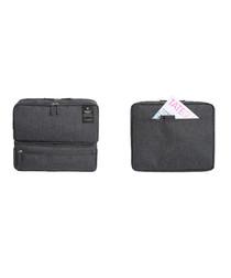 Dark grey carry-on travel bag