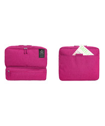 Pink carry-on travel bag