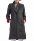 Black wool blend button-up coat Sale - Dewberry Sale