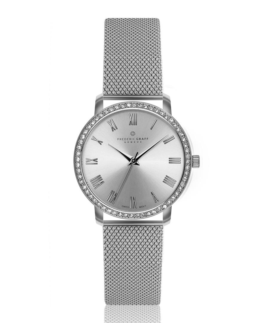 Ruinette silver-tone steel mesh watch Sale - frederic graff
