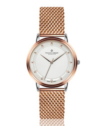 Matterhorn rose gold-tone mesh watch