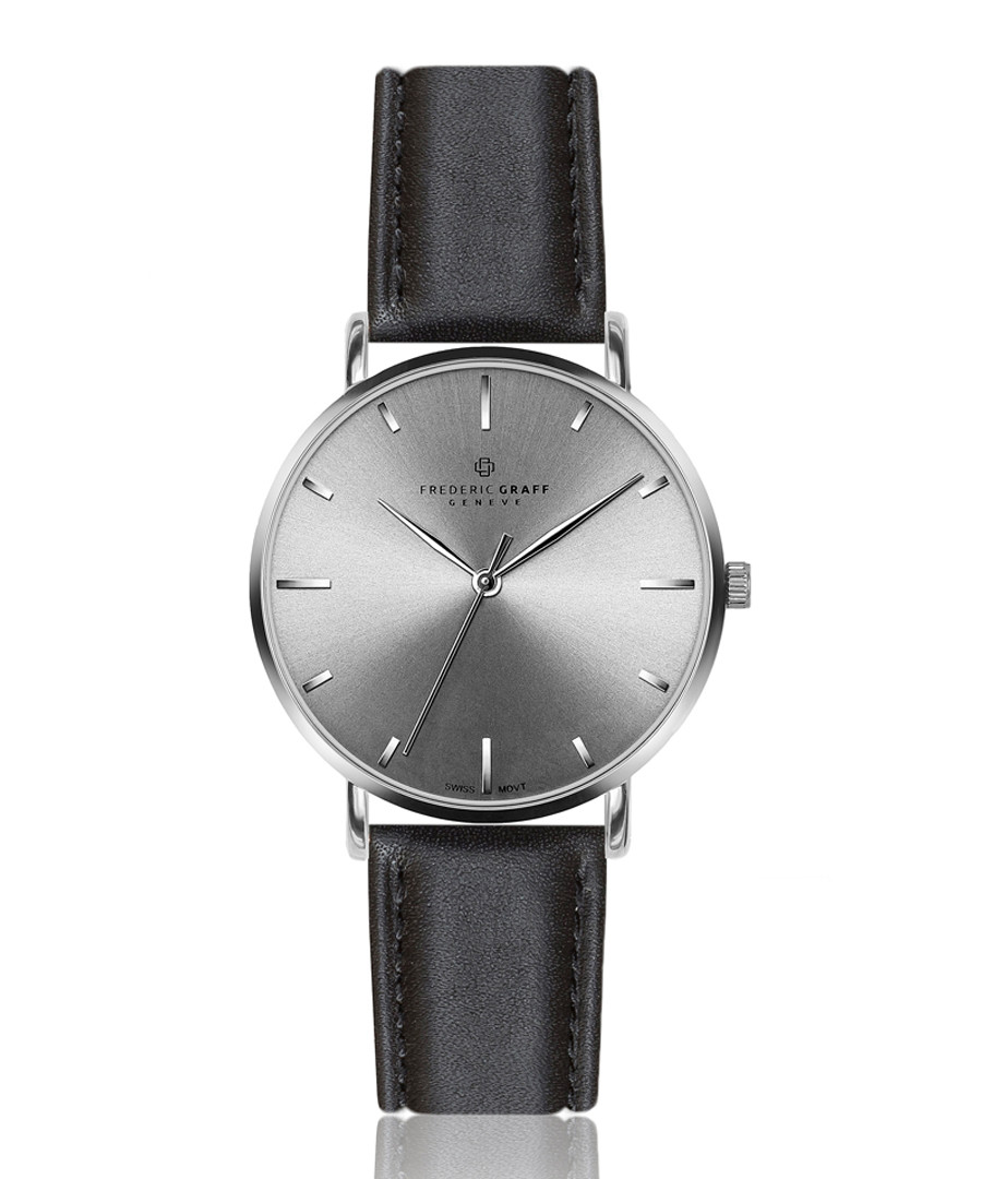 Eveque black leather watch Sale - frederic graff