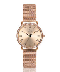 Ruinette rose gold-tone steel mesh watch