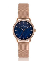 Monte rose gold-tone steel mesh watch