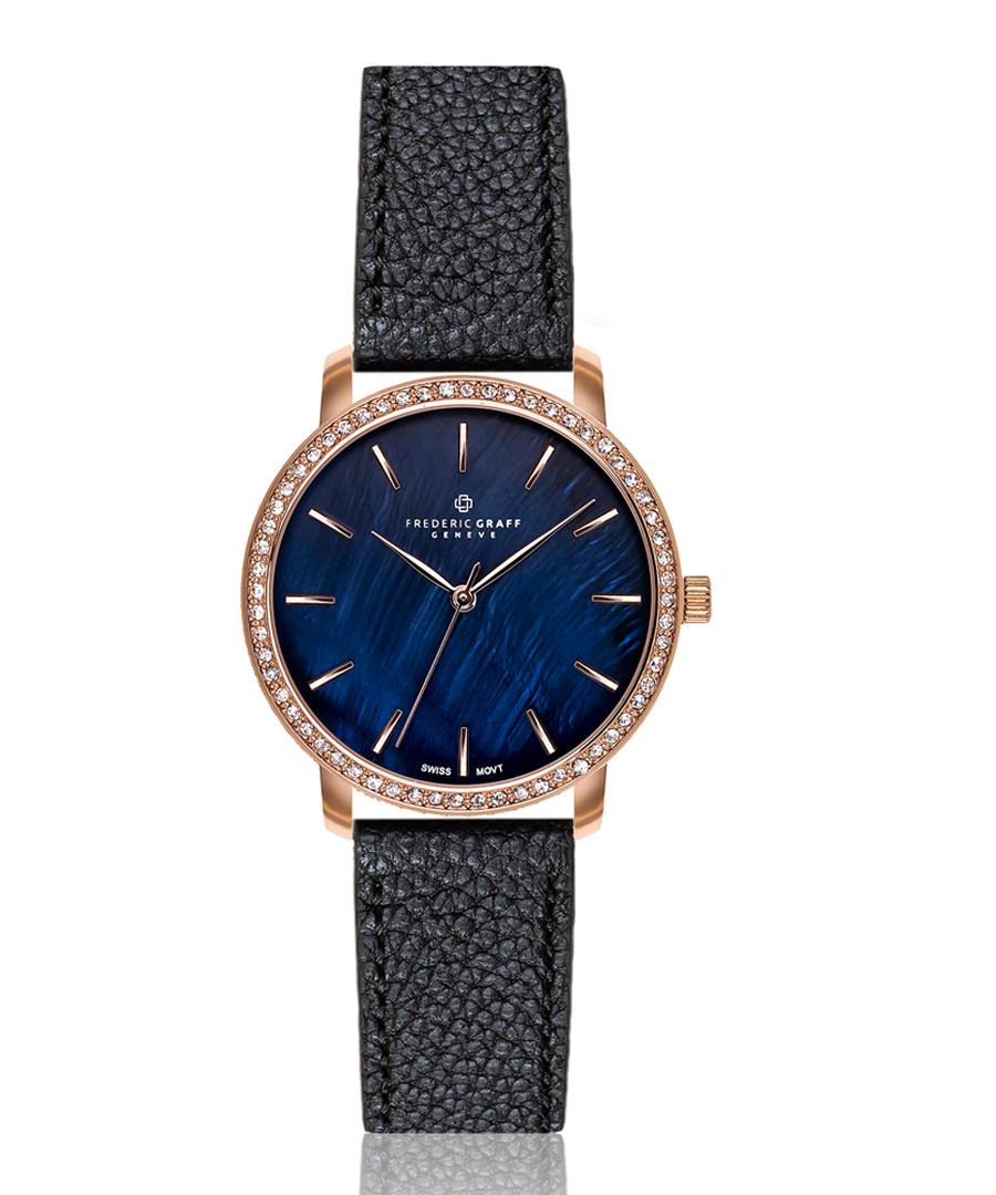 Monte rose gold-tone & black watch Sale - frederic graff