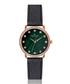 Mont Gele green & black leather watch Sale - frederic graff Sale