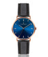 Mont Fort blue & black leather watch Sale - frederic graff Sale