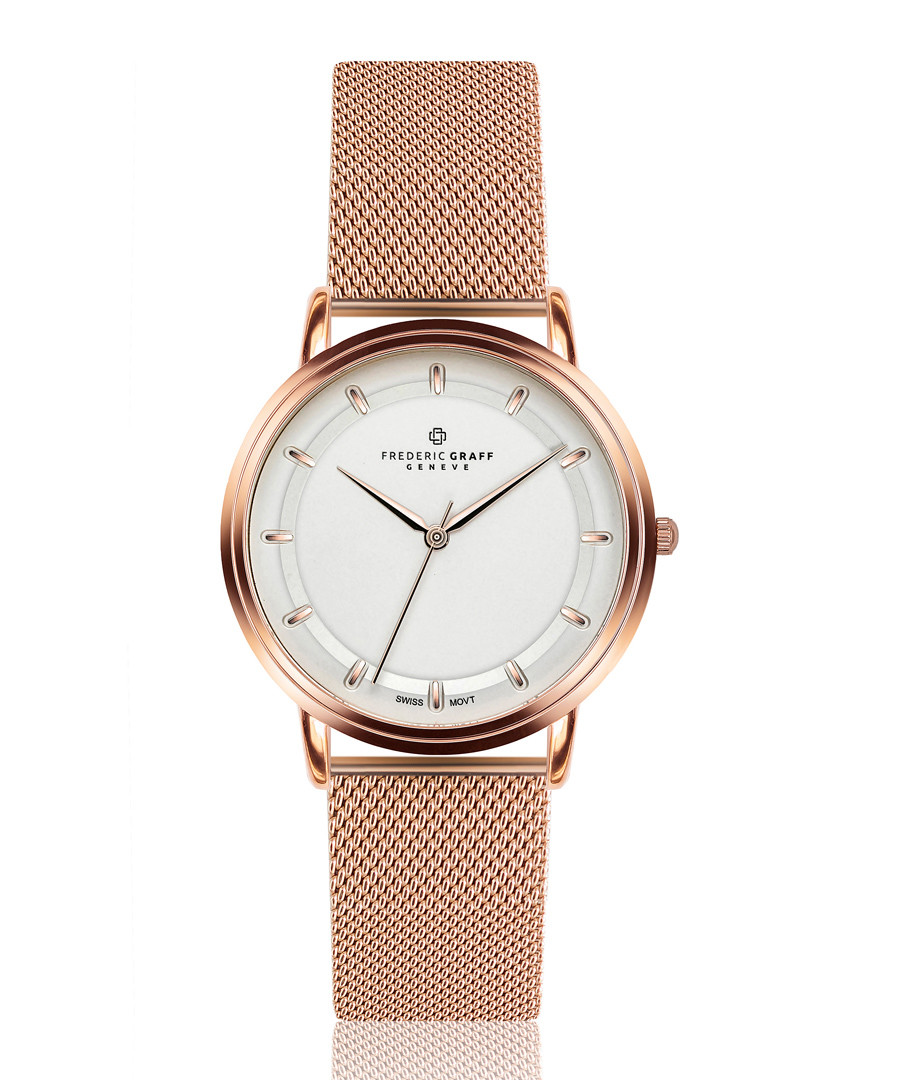 Matterhorn rose gold-tone mesh watch Sale - frederic graff