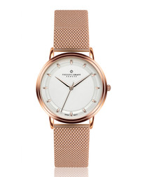Matterhorn rose gold-tone steel mesh watch