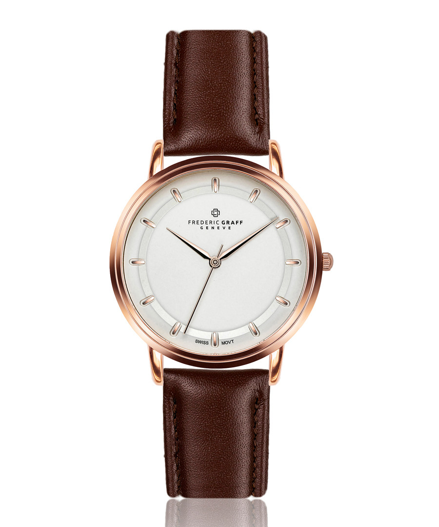 Matterhorn brown leather watch Sale - frederic graff