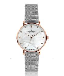 La Singla silver-tone steel mesh watch