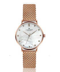 La Singla rose gold-tone mesh watch
