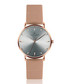 Eveque rose gold-tone steel mesh watch Sale - frederic graff Sale
