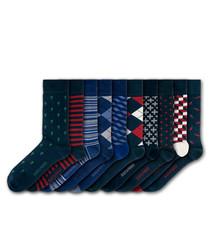 10pc Hampton Court cotton blend socks